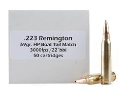 Doubletap Ammunition 223 Remington 69 Grain Nosler Custom Competition Hollow Point Boat Tail Box of 50