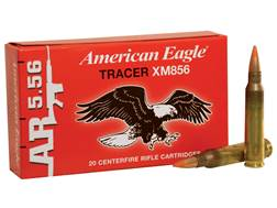 Federal American Eagle Tactical Tracer Ammunition 5.56x45mm NATO 64 Grain XM856 Full Metal Jacket