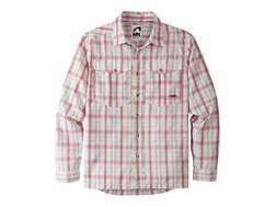Mountain Khakis Men's Equatorial Shirt Long Sleeve Polyester Engine Red Plaid Large 42-45