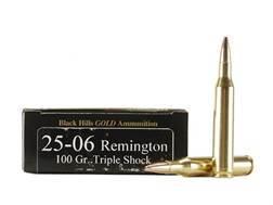 Black Hills Gold Ammunition 25-06 Remington 100 Grain Barnes Triple-Shock X Bullets Hollow Point Flat Base Lead-Free Box of 20