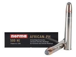 "Norma African PH Ammunition 500 Nitro Express 3"" 570 Grain Woodleigh Weldcore Soft Nose Box of 10"