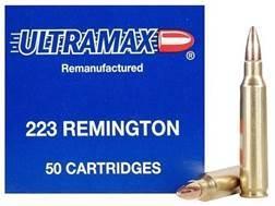 Ultramax Remanufactured Ammunition 223 Remington 55 Grain Full Metal Jacket