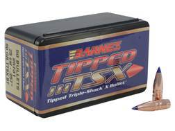 Barnes Tipped Triple-Shock X Bullets 25 Caliber (257 Diameter) 80 Grain Spitzer Boat Tail Lead-Free Box of 50
