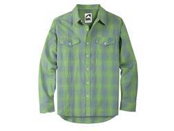 Mountain Khakis Men's Shoreline Shirt Long Sleeve Cotton Ripstop Mint Multi Large 42-45