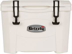 Grizzly 15 Qt Rotomold Cooler White
