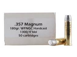 Doubletap Ammunition 357 Magnum 180 Grain Hard Cast Solid Wide Flat Nose Gas Check Box of 50