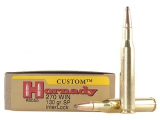 Hornady Custom Ammo 270 Win 130 Gr InterLock SPP Box of 20