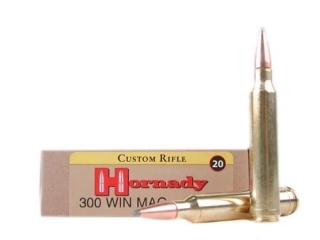 Hornady Custom Ammo 300 Win Magnum 165 Gr InterLock SPP BT Box of 20