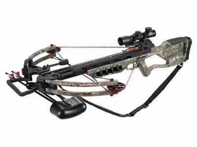Velocity Archery Raven Crossbow Package with 4x 32mm Illuminated Crossbow Scope Realtre...