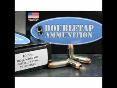 Doubletap Ammunition 10mm Auto 180 Grain Bonded Defense Jacketed Hollow Point Box of 20
