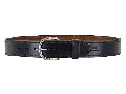 "Ross Leather Dress Belt 1-1/2"" Brass Buckle Leather"