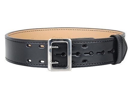 "Gould & Goodrich B49FL4 E-Z Slide Duty Belt 2-1/4"" Nickel Plated Brass Buckle Leather"