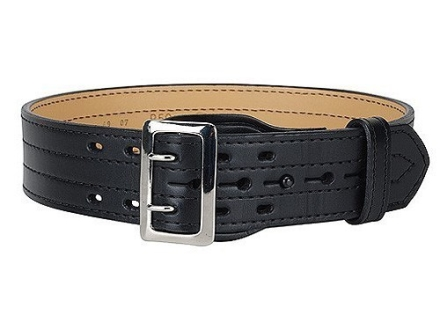 "Gould & Goodrich B59FL4R Four Stitch Duty Belt 2-1/4""  Nickel Plated Brass Buckle Leather"