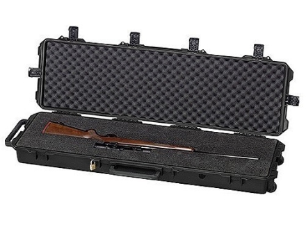 Pelican Storm 3300 Scoped Rifle Gun Case with Solid Foam Insert and Wheels Polymer