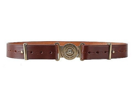 """Galco Adjustable Belt 1-1/2"""" For Galco Pouches and Carriers Brass Buckle Leather Brown"""