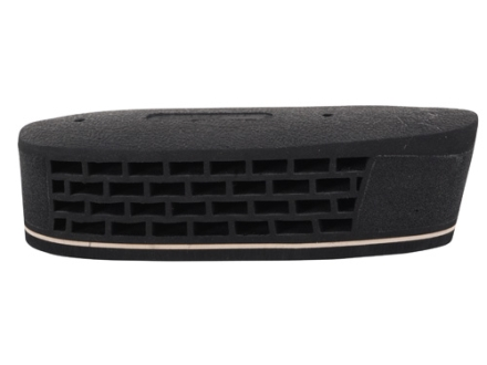"""Pachmayr F990 Triple Magnum Recoil Pad Grind to Fit 1-1/2"""" Small with White Line with Leather Texture Face Black"""