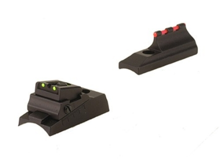 Williams Fire Sight Set Traditions Lightning Fire, Buckhunter, Timberridge, and Cabela's Private Label Aluminum BLack Fiber Optic Green