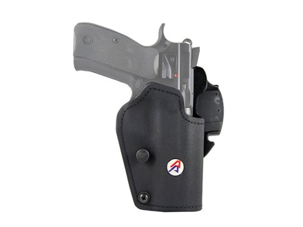 Double-Alpha PDR Belt-Ride Holster CZ SP01 Kydex/Suede Black