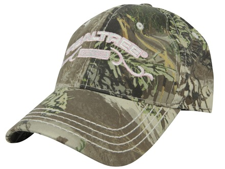 Team Realtree Women's Camo Logo Cap Cotton Realtree Max-1 Camo and Pink