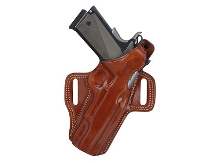 Galco Fletch Belt Holster Right Hand 1911 Defender, Springfield EMP Leather Tan
