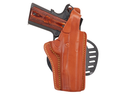 Gould & Goodrich B807 Paddle Holster Right Hand 1911 Government, Commander, Browning Hi-Power Leather Chestnut Brown