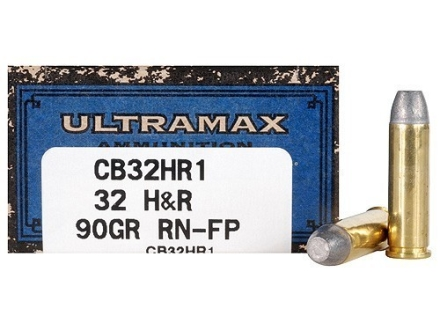 Ultramax Cowboy Action Ammunition 32 H&R Magnum 90 Grain Lead Flat Nose Box of 50