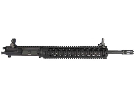 "Yankee Hill AR-15 Specter XL Black Diamond Upper Assembly 6.8mm Remington SPC 1 in 10"" Twist 16"" Fluted Barrel Chrome Lined with Diamond Quad Rail Free Float Handguard, Flip-Up Sights, Flash Hider"
