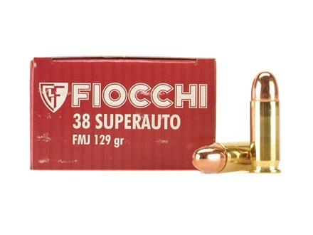 Fiocchi Shooting Dynamics Ammunition 38 Super 129 Grain Full Metal Jacket Box of 50