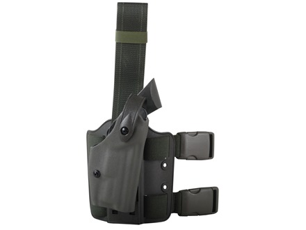 Safariland 6004 SLS Tactical Drop Leg Holster Right Hand 1911 Government Polymer Olive Drab Green