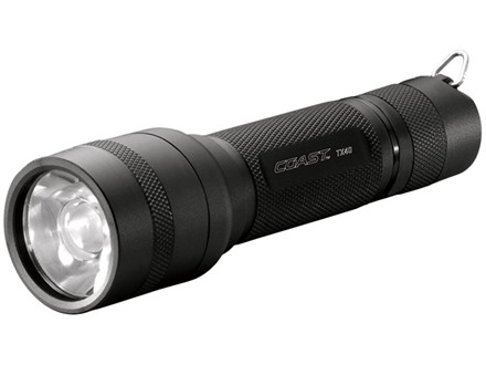 Coast TX40 Flashlight LED with 3 AAA Batteries Aluminum Black