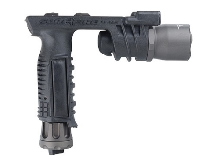 Surefire M910A Vertical Foregrip Xenon and White LED Bulbs and Thumbscrew Mount Nitrolon and Aluminum Black