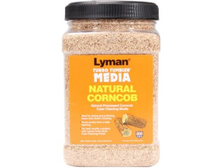 "Lyman Turbo Brass Cleaning Media Corn Cob 6 lb ""Easy Pour Container"""