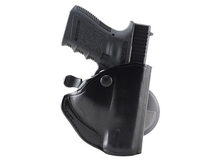 Bianchi 83 PaddleLok Paddle Holster Left Hand Glock 17, 22 Leather Black