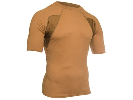 "BlackHawk Engineered Fit Mock Collar Shirt Short Sleeve Synthetic Blend Coyote Tan 2XL (50"" to 52"")"