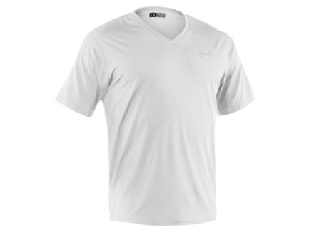 Under Armour Men's Original V-Neck Undershirt Short Sleeve Synthetic Blend White 2XL 50-52