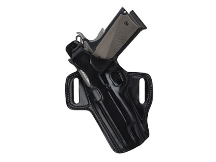 Galco Fletch Belt Holster Left Hand 1911 Commander Leather Black