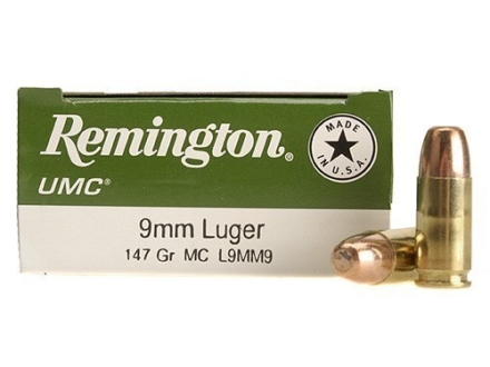 Remington UMC Ammunition 9mm Luger 147 Grain Full Metal Jacket