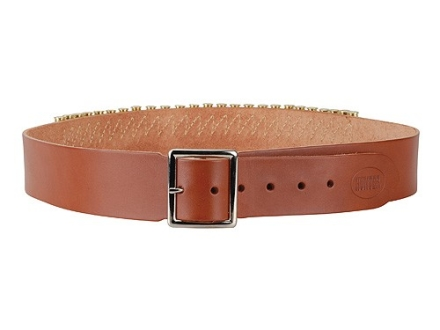 "Hunter Cartridge Belt 2"" 45 Caliber 25 Loops Leather Brown XL"