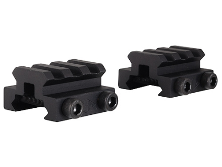 "Remington Picatinny-Style Mini Riser Mount 1-1/3"" Length Aluminum Black Package of 2"