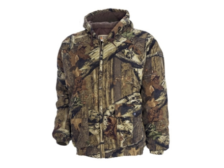Russell Outdoors Men's Flintlock Jacket Insulated Long Sleeve Cotton Polyester Blend Mossy Oak Break-Up Infinity Camo Large 42-44