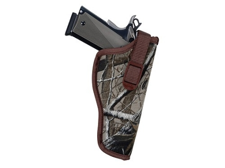 "Uncle Mike's Sidekick Hip Holster Right Hand Medium and Large Double Action Revolver 6"" Barrel Nylon Realtree Hardwoods Camo"