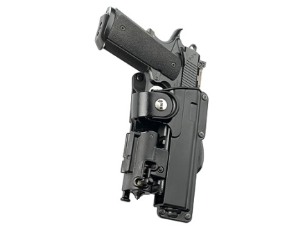 Fobus Tactical Paddle Holster Right Hand Glock 20,21,37 with Light or Laser Polymer Black