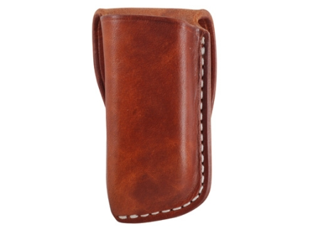 El Paso Saddlery Single Magazine Pouch Double Stack 45 ACP, 10mm Magazine Leather Russet Brown