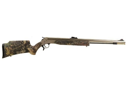 "CVA Optima 209 Magnum Muzzleloading Rifle 50 Caliber Synthetic Stock Mossy Oak Camo 26"" Barrel Nickel Plated"