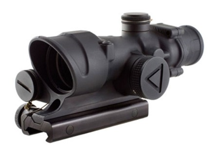 Trijicon ACOG TA02 BAC Rifle Scope 4x 32mm Battery LED Illuminated Red Crosshair 223 Remington Reticle with TA51 Flattop Mount Matte
