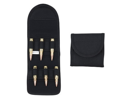 Uncle Mike's Belt Slide Folding Magnum Rifle Ammunition Carrier 6-Round Nylon Black