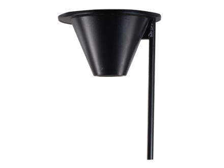 On Time Game Feeder Mounting Funnel Aluminum Black