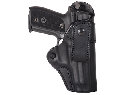 Blackhawk Inside the Waistband Holster Right Hand Leather Belt Loop HK P2000, USP Compact Leather Black