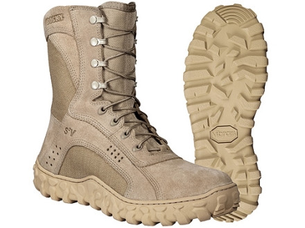 """Rocky S2V 8"""" Flash and Water-Resistant Uninsulated Boots Cordura Nylon with Leather Instep Panel"""