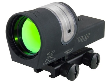 Trijicon RX30-14 Reflex Sight 1x 42mm 6.5 MOA Dual-Illuminated Amber Dot with Flat-Top Mount Matte